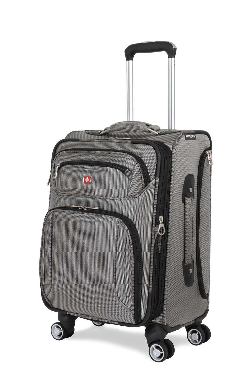 Swissgear 7895 19 Zurich Expandable Deluxe Carry On Spinner Luggage Pewter