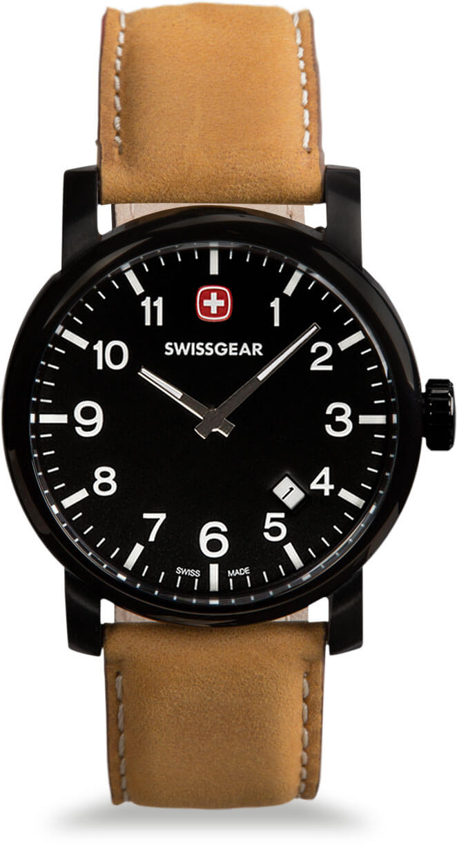 Swissgear Black Watch Black Dial & Brown Strap