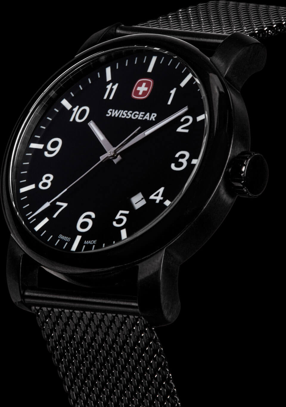 Swissgear Watch Black Dial & Black Strap