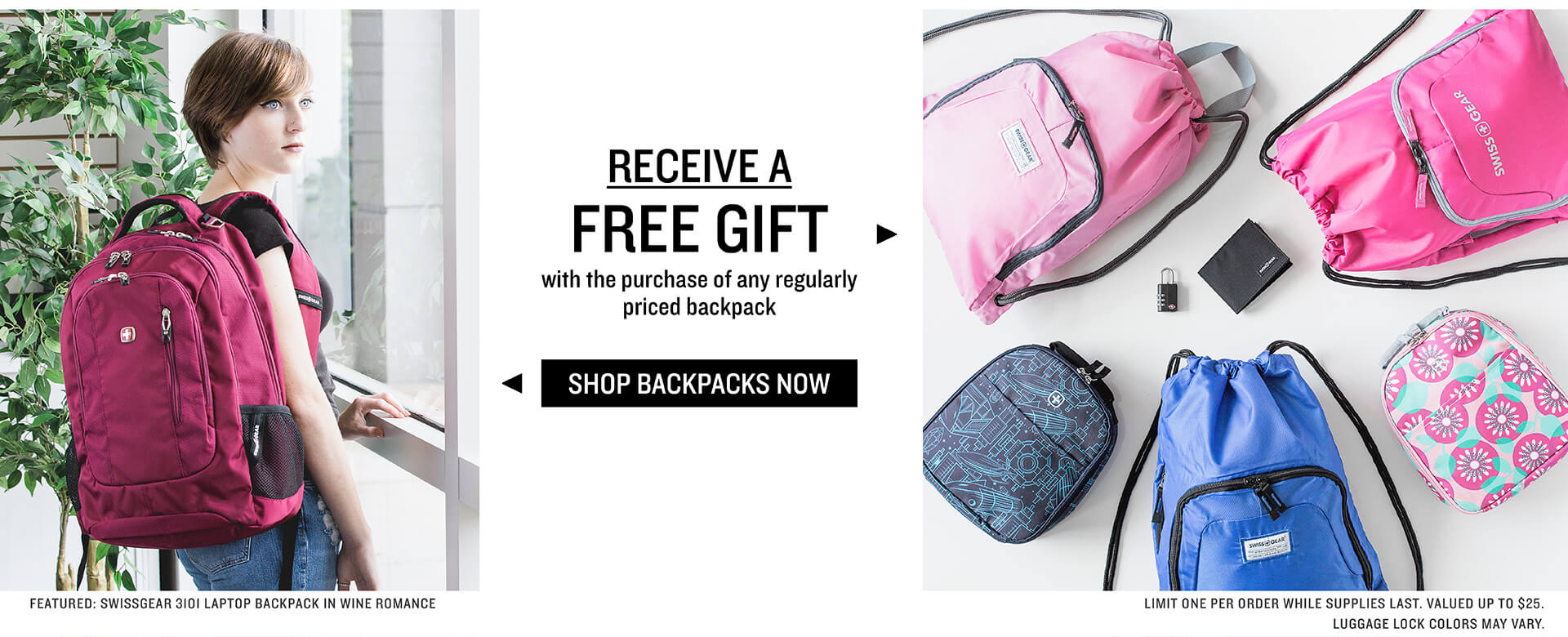 FREE Gift with purchase of regularly priced backpacks