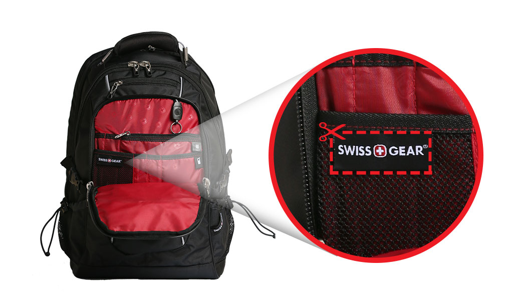 How to locate your SWISSGEAR Backpack Seam Label