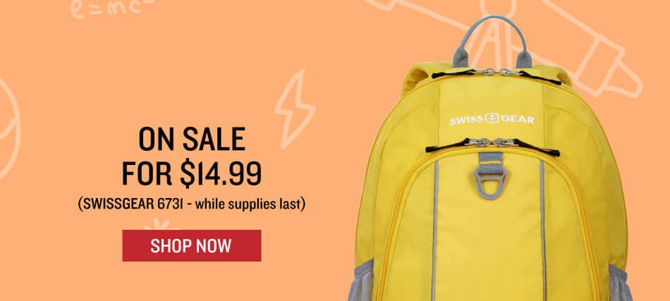 Shop Swissgear 6731 Backpack in Yellow