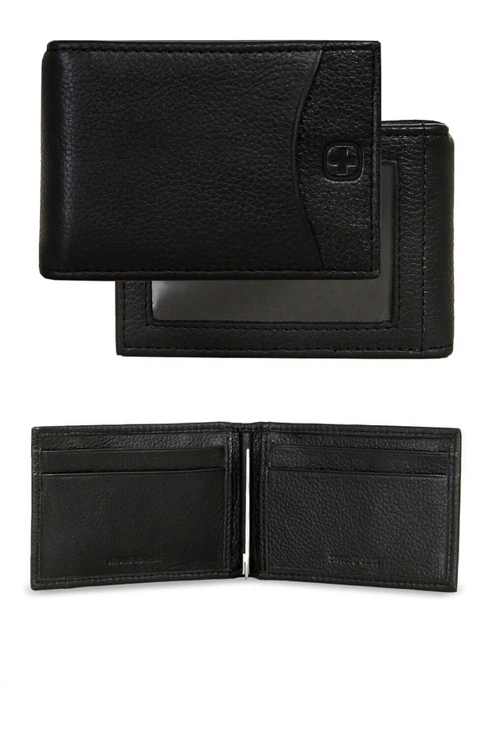Basal Slimfold Wallet with Cash Clip – Black
