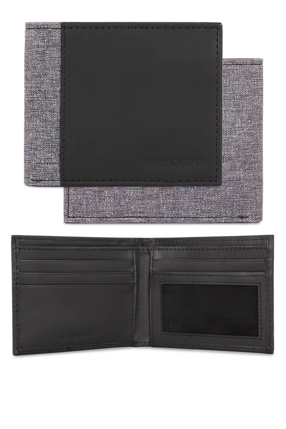 Heathered Black and Grey Bifold Wallet