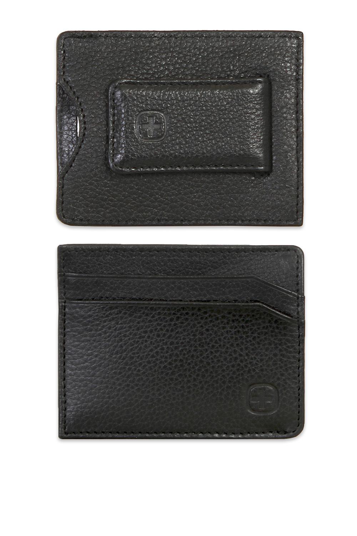 Sierre Magnetic Money Clip Card Wallet – Black