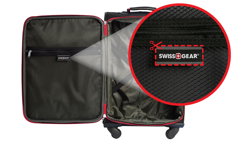 How to locate your SWISSGEAR Luggage Seam Label